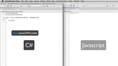 Tutorial Javascript Unity   c vs js syntax unity official tutorials youtube
