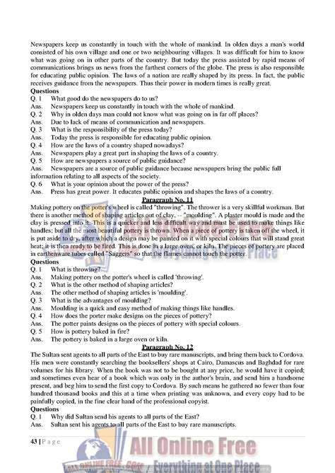 Letter For 9th Class guess notes 9th class letters and comprehensions