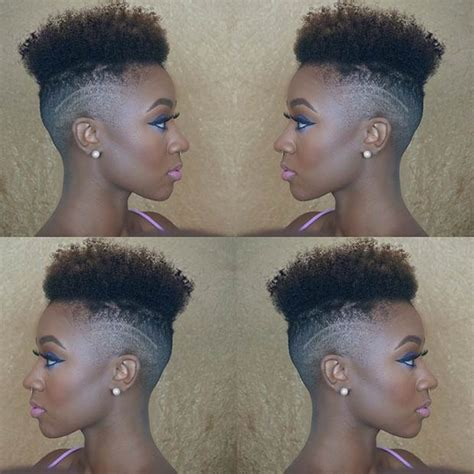 ahirt shaved sides naturalvhairstyle 31 best short natural hairstyles for black women stayglam