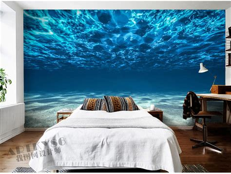 ocean decor for bedroom aliexpress com buy charming deep sea photo wallpaper