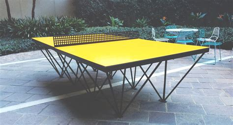 an outdoor ping pong table for design design milk