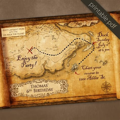 treasure map invitation template 23 best images about treasure scavager hunt on