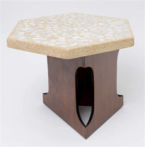 terrazzo bench tops terrazzo bench tops terrazzo top side table by harvey probber at 1stdibs