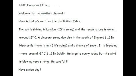 weather report script sle script weather forecast