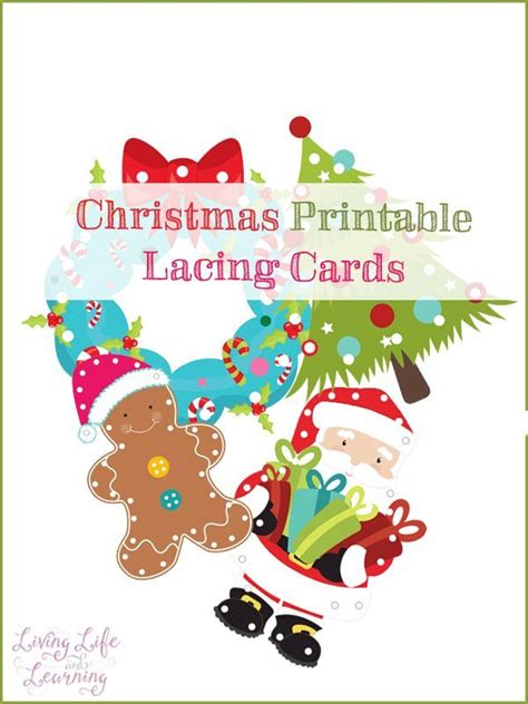 printable christmas lacing cards 17 best images about seasonal december winter holidays
