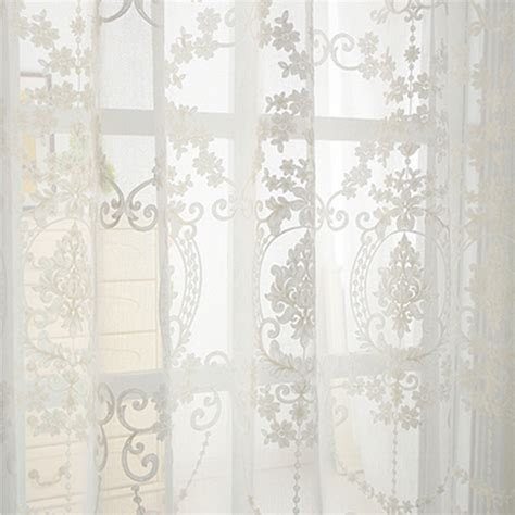 white embroidered curtains white embroidered sheer curtains living room bedroom