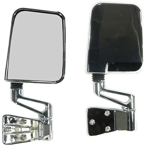 Jeep Wrangler Side Mirrors Jeep Wrangler Chrome Side Mirrors Pair 1987 2002
