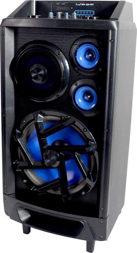 Kit Power Karaoke Mp3 Subwoofer Dms 1500 Bluetooth lenoxx bt9377 bluetooth 150w rms wireless portable kara
