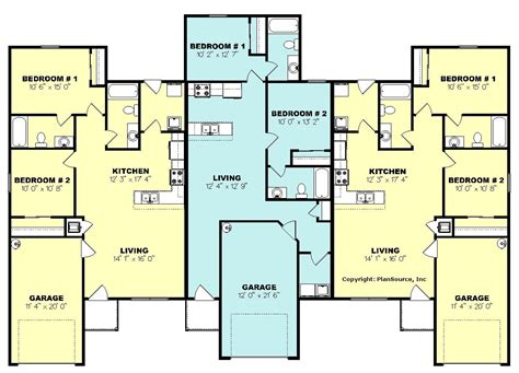 triplex floor plans triplex plan j0324 16t 2
