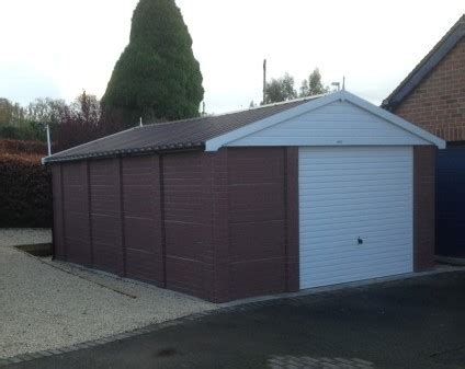 Crewe Garages crewe apex garage with brick finish concrete sectional
