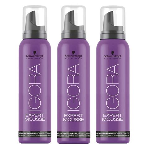 colored mousse temporary hair color s kopf igora expert color mousse