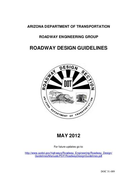 design criteria des roadway design guidelines