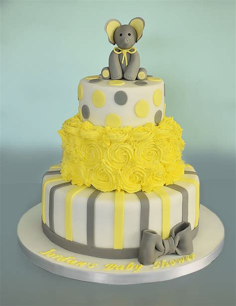 Baby Shower 2 Tier Cakes by Three Tier Baby Shower Cake Caradise