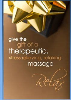 Massage Therapy Gift Cards - spa massage on pinterest