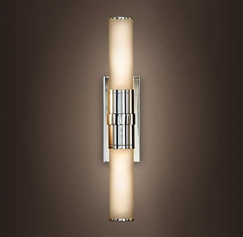 double light wall sconce cade double sconce restoration hardware vanity light