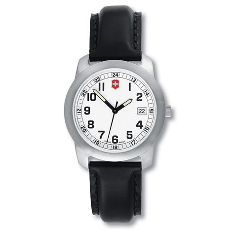 victorinox swiss army field small white black leather