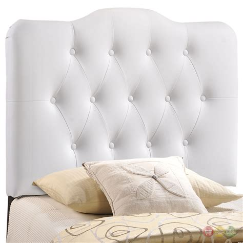 tufted twin headboard annabel faux leather button tufted arched twin headboard