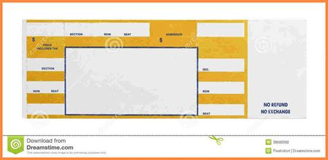 template for concert tickets concert ticket template bikeboulevardstucson