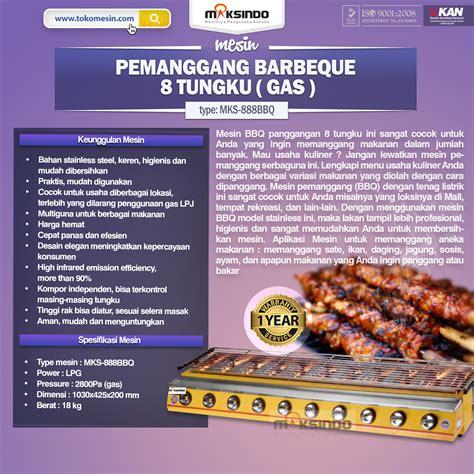 Tungku Pemanggang jual pemanggang bbq stainless gas 6 tungku di bandung