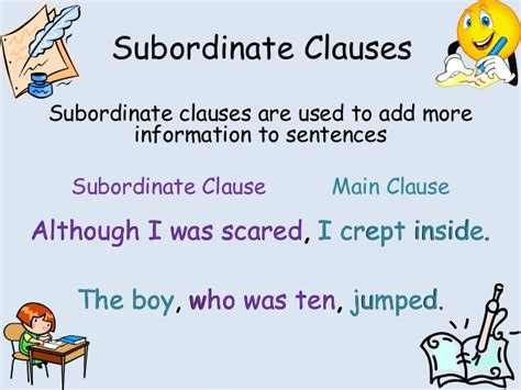 subordinate clauses task skill burst to print off activity