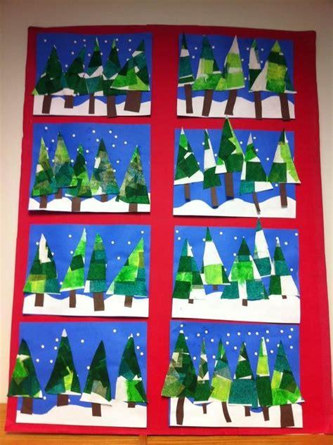 christmas gift drawing elementary school kunst in der grundschule winterbild bk