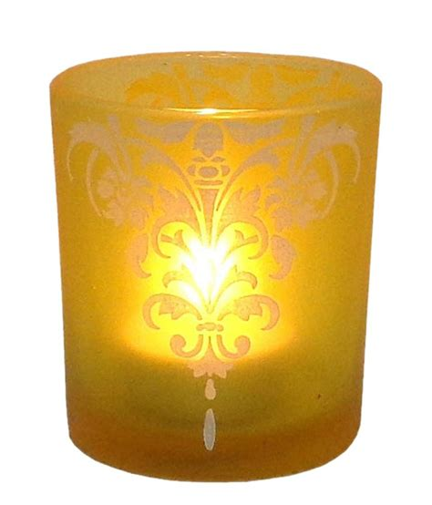 indian glass global india glass candle holder yellow buy