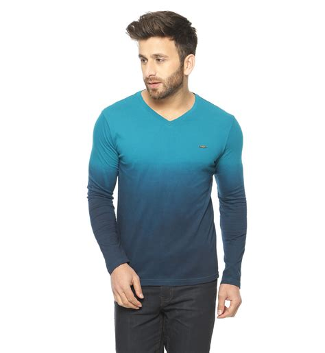 Sleeve V Neck T Shirt turquoise sleeve v neck t shirt