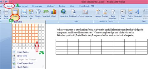 How To A Table In Word 4 Simeple Methods