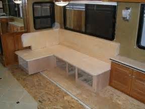 Building A Banquette Bench Rv Mod One Of A Kind Rv Dinette Table Elegant And Space