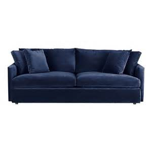 navy blue velvet sofa lounge 93 quot sofa