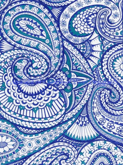 paisley pattern photo frame blue and frames and paisley pattern on pinterest