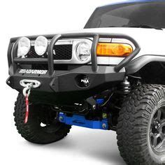 Hummer Adventure Athena Black warrior products fj cruiser winch bumper with brush guard