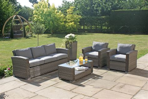 Sofa And Seat Set by Maze Rattan 3 Seat Sofa 2 Chairs Outdoor Garden