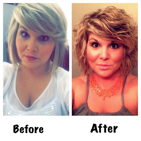 beach wave perm on short hair before my beach wave perm and then after the beach wave