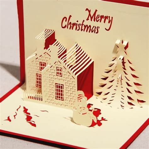 merry pop up card template cards that pop out images ideas