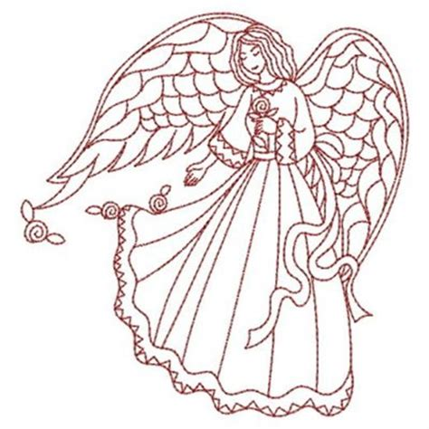 embroidery design angel sweet heirloom embroidery design redwork love angel 3 80