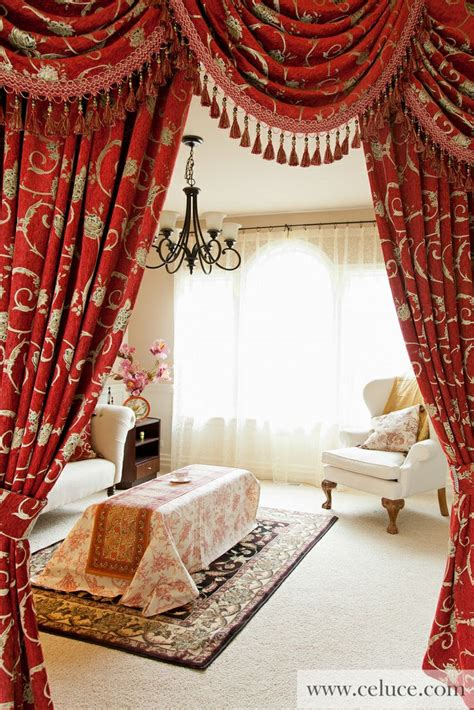 red swag curtains red swag curtains