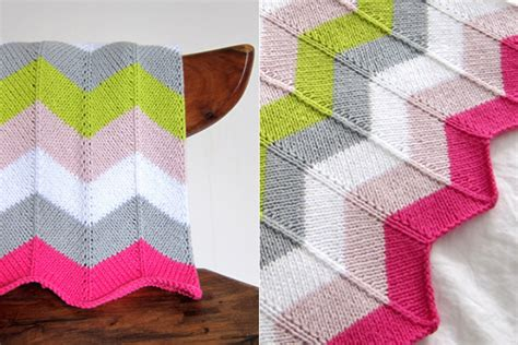 Chevron Baby Blanket Knit Pattern by Free Free Ripple Stitch Baby Blanket Knitting Patterns