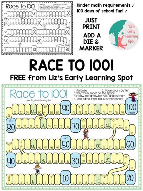 100th Day Counting Activities For - 100 days of school math activities for kindergarten