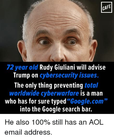 Search Aol Email Address Rudy Giuliani Memes Of 2017 On Sizzle Clarked