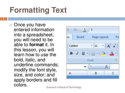 format cd text lesson4 formatting text