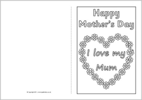 mothersday card template 7 best images of s day printable templates