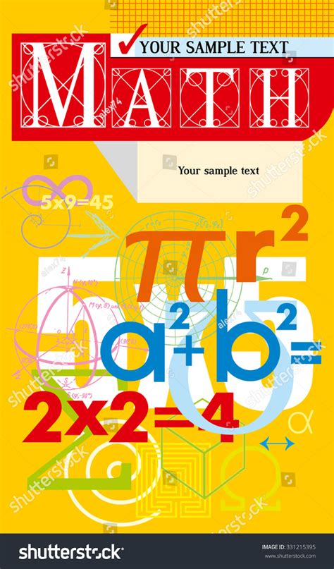 mathematics vector cover background from scientific