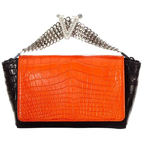 Clutch Versace 1 versace crocodile clutch for sale at 1stdibs