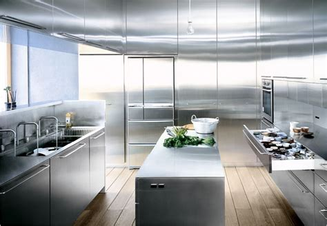 stainless steel kitchen design a stainless steel kitchen desgnied for at home chefs