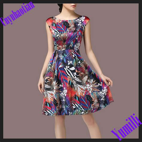 New Style Slim Dress new fashion dress slim heavy silk ruffle summer dress vestidos plus size summer