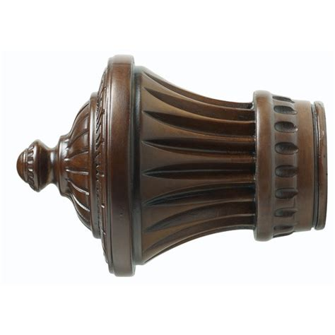 wood drapery rods and hardware wood trends classics 3 quot charleston finial williams