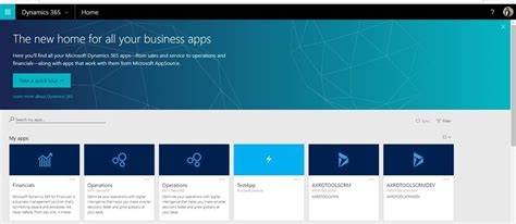 Microsoft Office Home Page View Lcs Deployed Environments On The Dynamics 365 Home