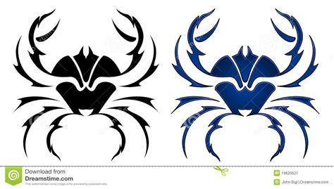 disegno del tatuaggio del granchio immagine stock