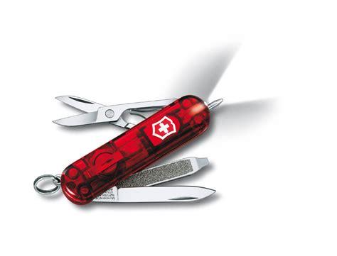 swiss army knife with light victorinox signature lite rubin mini cyber lite